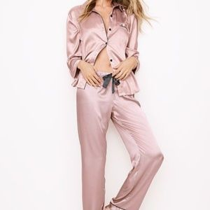 VICTORIA'S SECRET Pocket Satin 2 piece set Pink